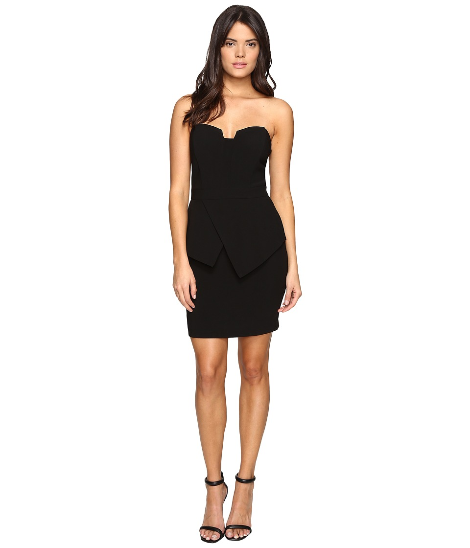 Adelyn Rae - Tube Dress w/ Peplum (Black) Women's Dress