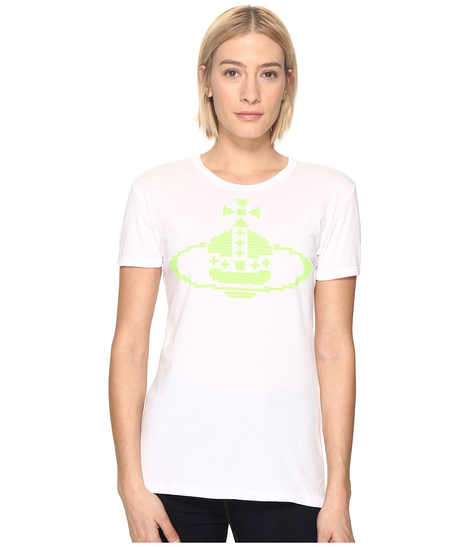 Vivienne Westwood - Embroidered Orb T-Shirt (Optical White) Women's T Shirt