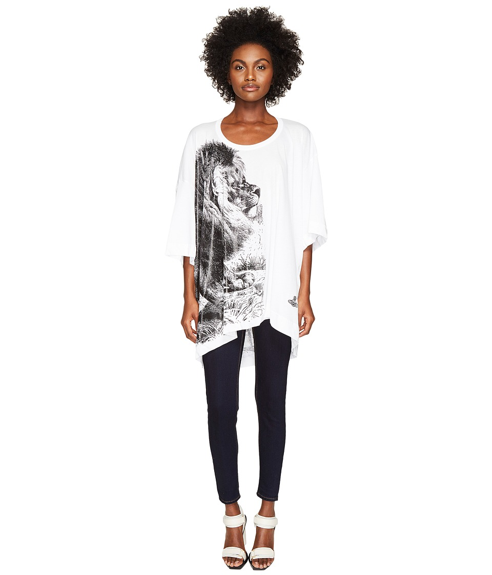 Vivienne Westwood - Lion Big Man T-Shirt (Optical White) Women's T Shirt