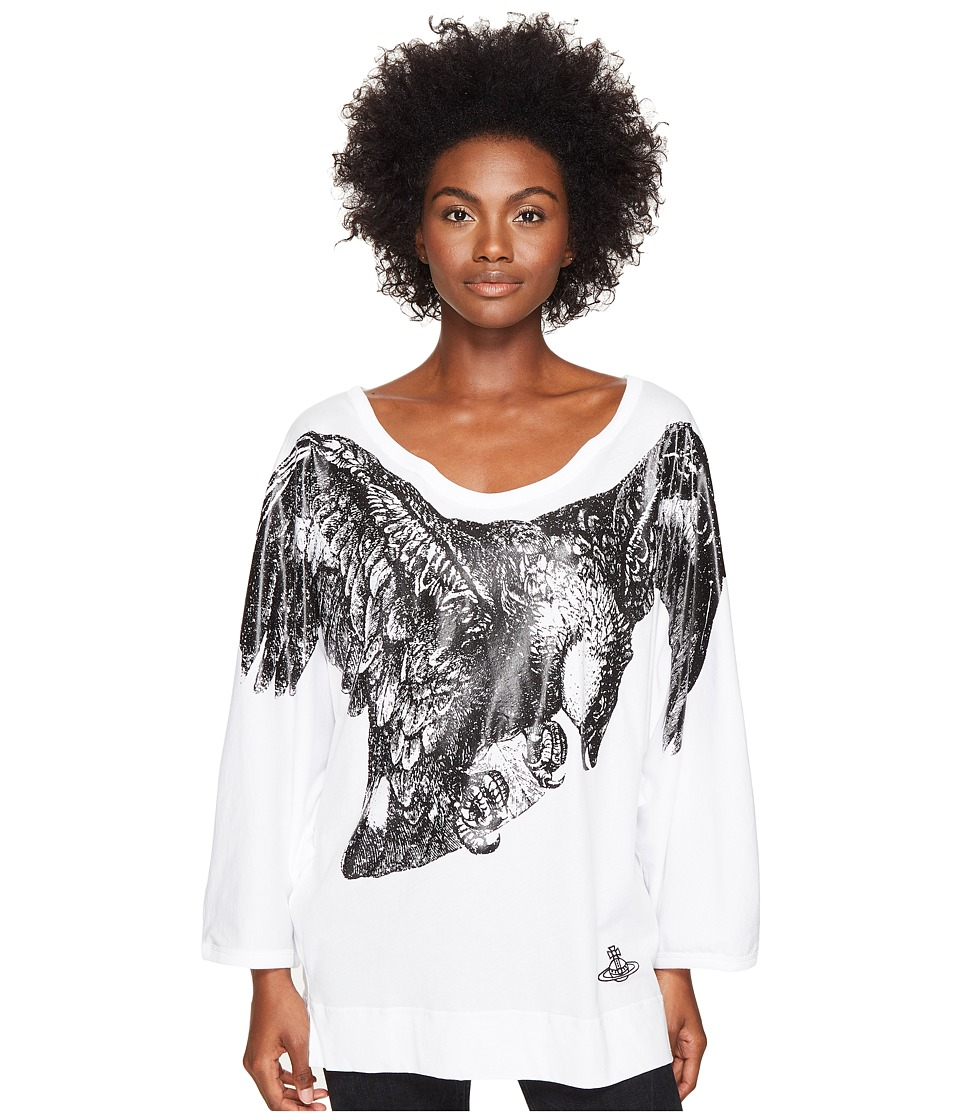 Vivienne Westwood Eagle Batwing T-Shirt (Optical White) Women