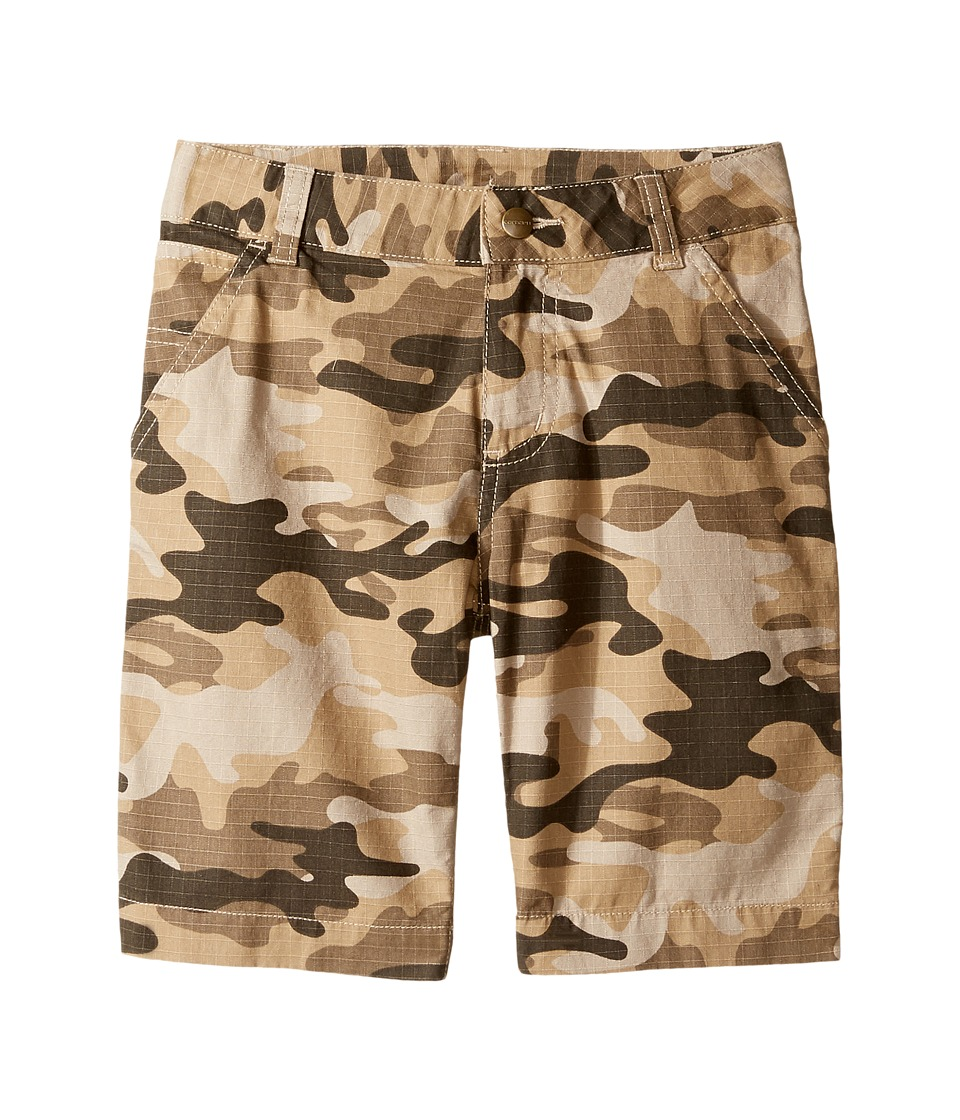 Carhartt Kids - Ripstop Dungaree Shorts (Little Kids) (Tan Camo) Boy's Shorts