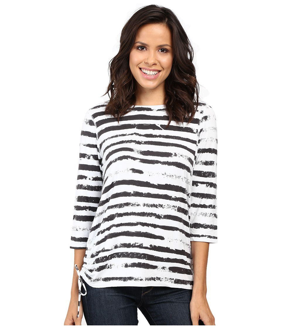 FDJ French Dressing Jeans - Cloud Stripe Top (Ebony) Women's Long Sleeve Pullover