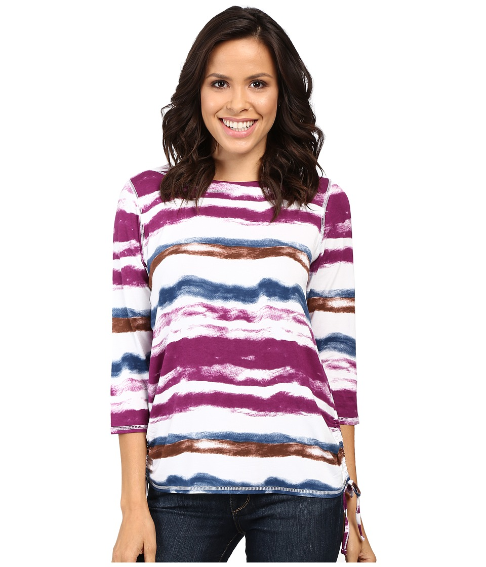 FDJ French Dressing Jeans - Water Color Stripe Top (Multi) Women's Long Sleeve Pullover