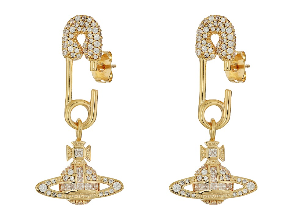 Vivienne Westwood - Clotilde Small Earrings (White Cubic Zirconia 1) Earring