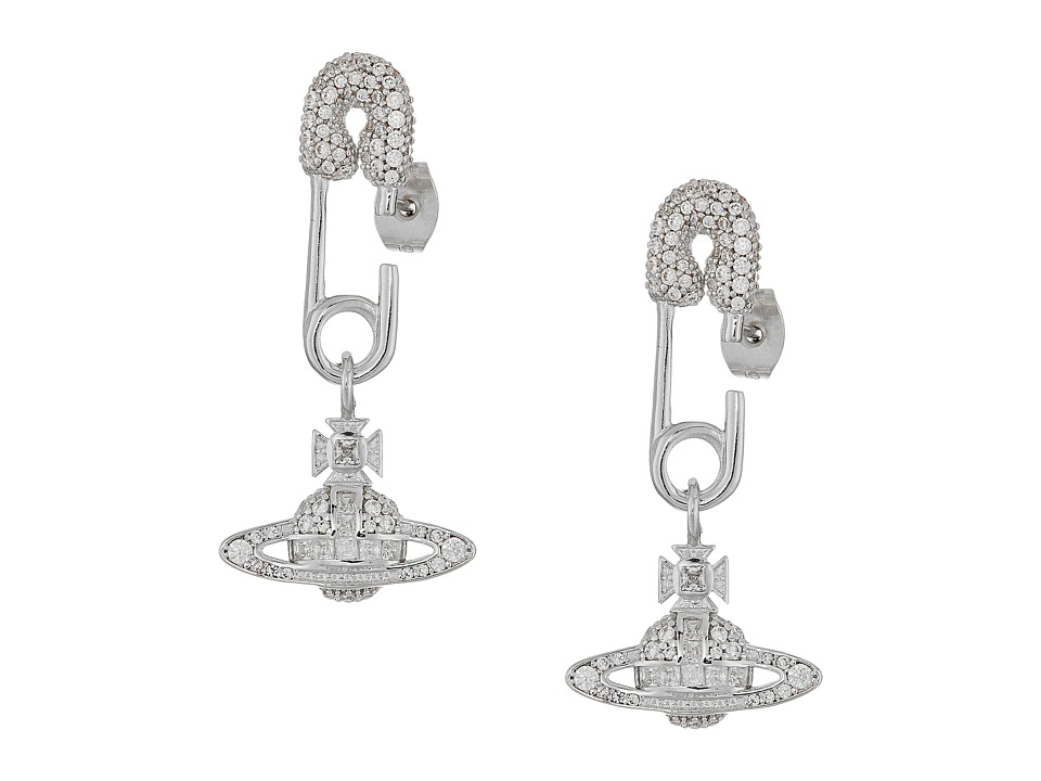 Vivienne Westwood - Clotilde Small Earrings (White Cubic Zirconia) Earring
