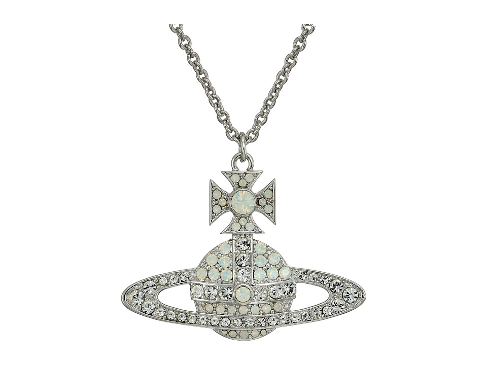 Vivienne Westwood - Kika Large Pendant Necklace (White Opal/Crystal) Necklace