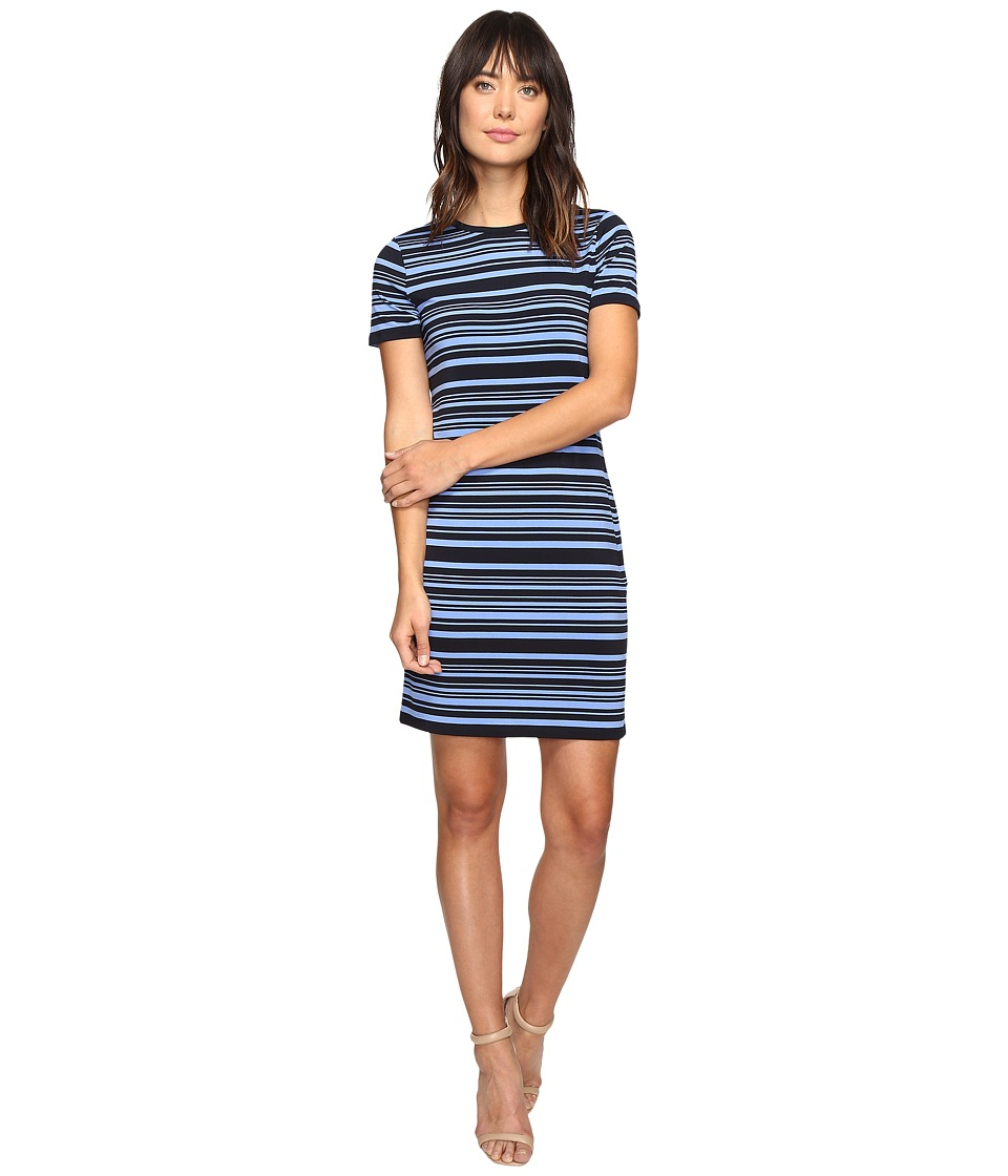 MICHAEL Michael Kors - Ardennais Stripe Dress (Oxford Blue) Women's Dress