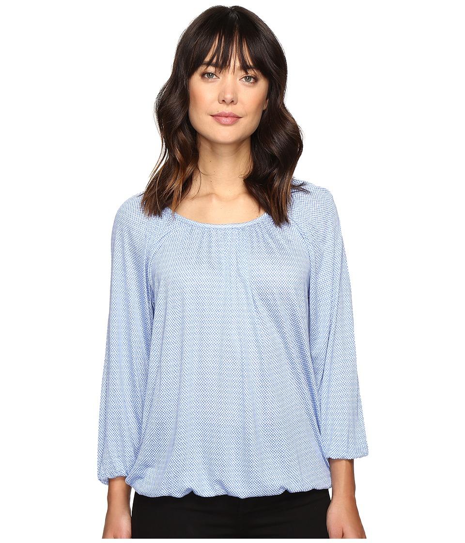 MICHAEL Michael Kors - Cheval Lace Peasant Top (Oxford Blue) Women's Clothing