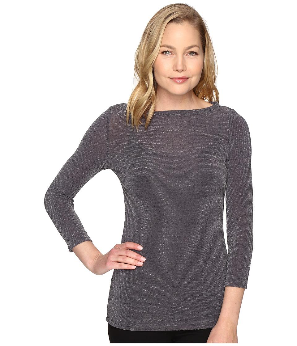 MICHAEL Michael Kors - Boat Neck 3/4 Sleeve Top (Derby) Women's Clothing