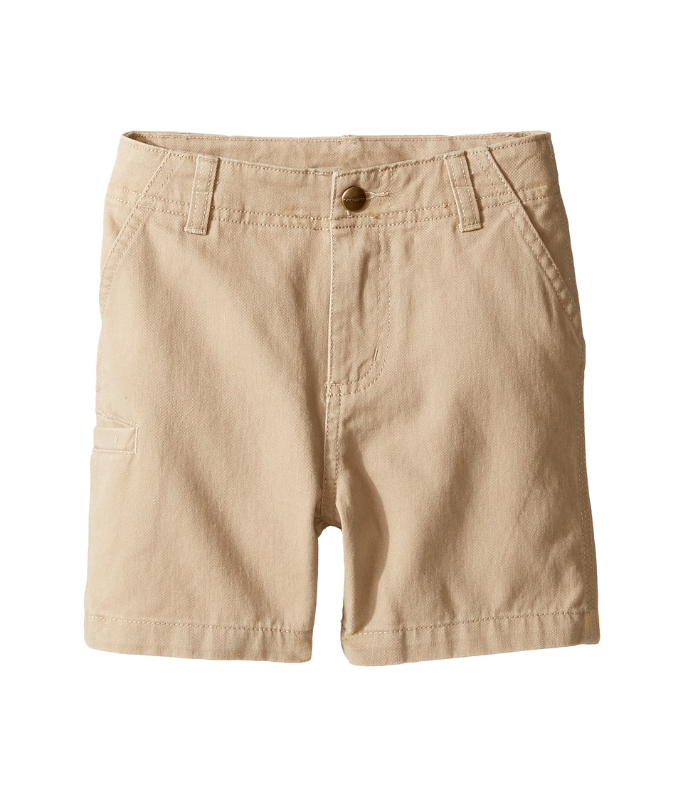 Carhartt Kids - Twill Work Shorts (Toddler) (Dark Tan) Boy's Shorts