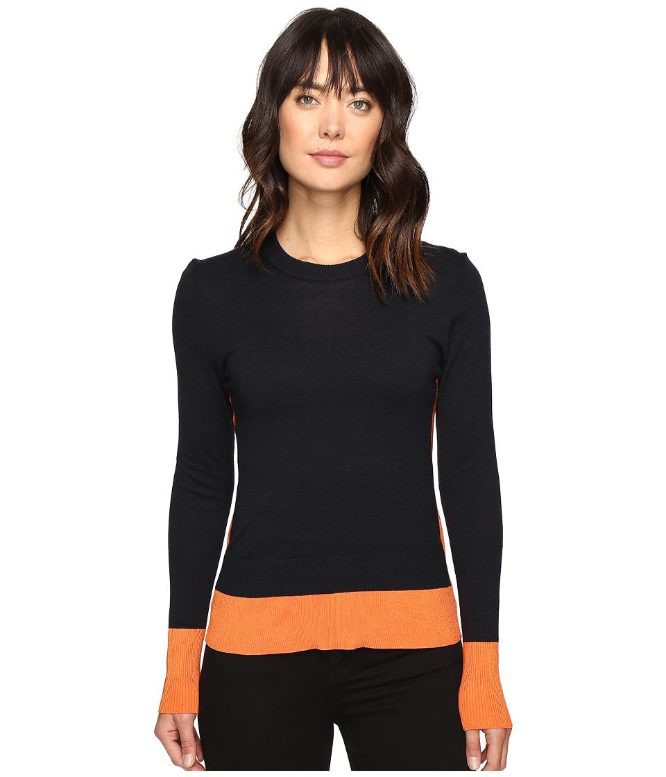 MICHAEL Michael Kors - Contrast Color Rib Sweater (Poppy) Women's Sweater