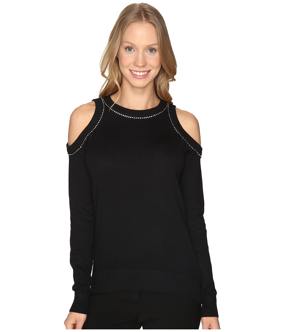 MICHAEL Michael Kors - Diamond Cold Shoulder Sweater (Black) Women's Sweater