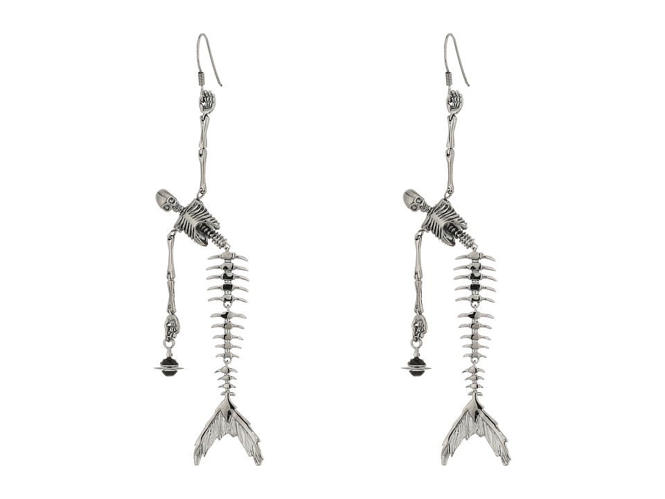 Vivienne Westwood - Ariel Skeleton Earrings (Ruthenium) Earring