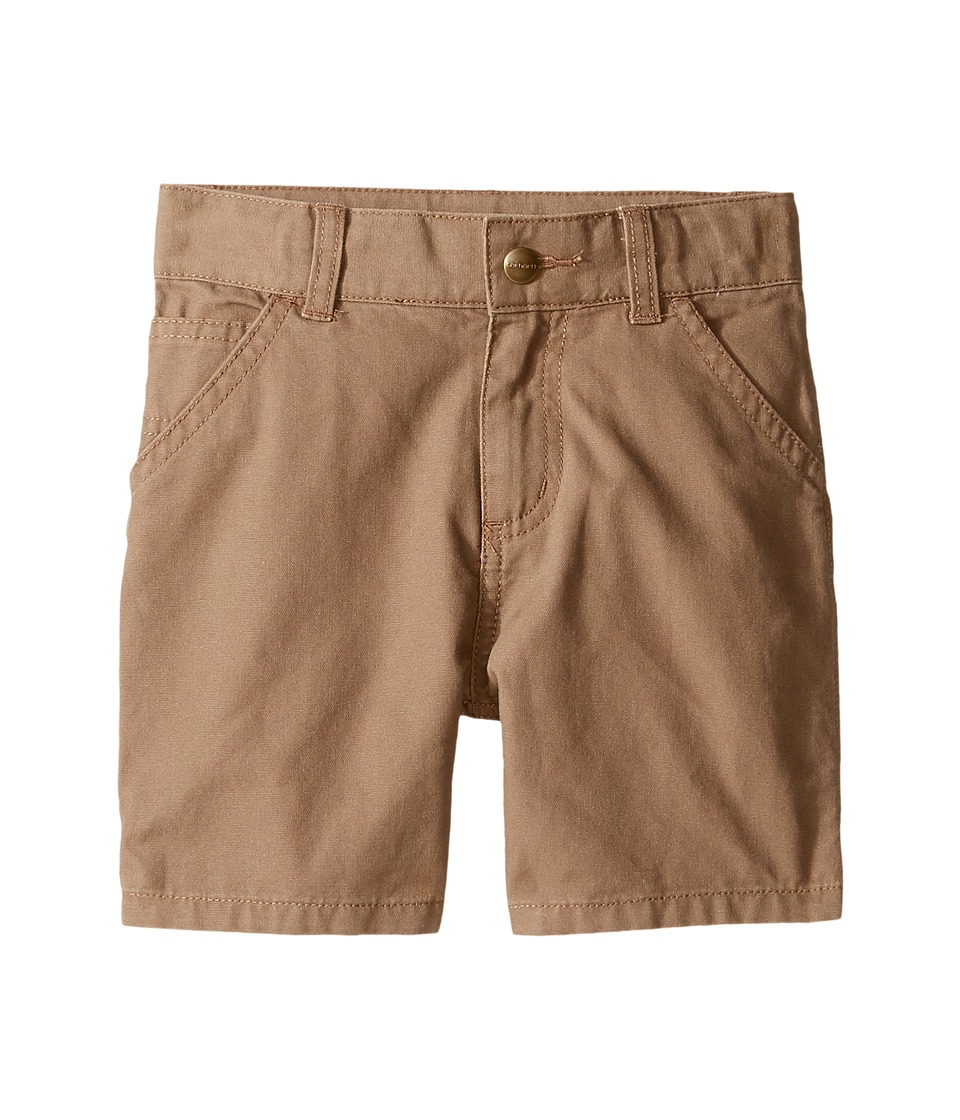 Carhartt Kids - Dungaree Shorts (Toddler) (Canyon Brown) Boy's Shorts