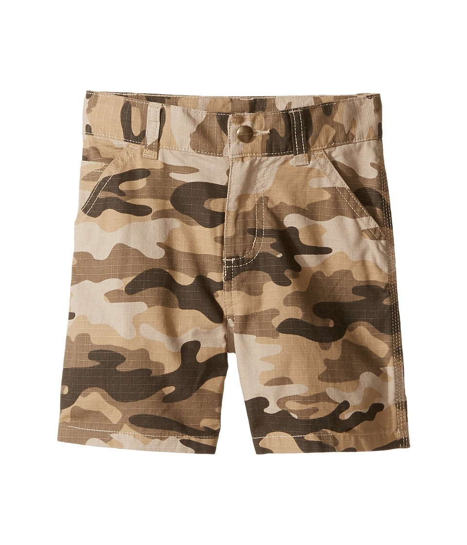 Carhartt Kids - Ripstop Dungaree Shorts (Toddler) (Tan Camo) Boy's Shorts