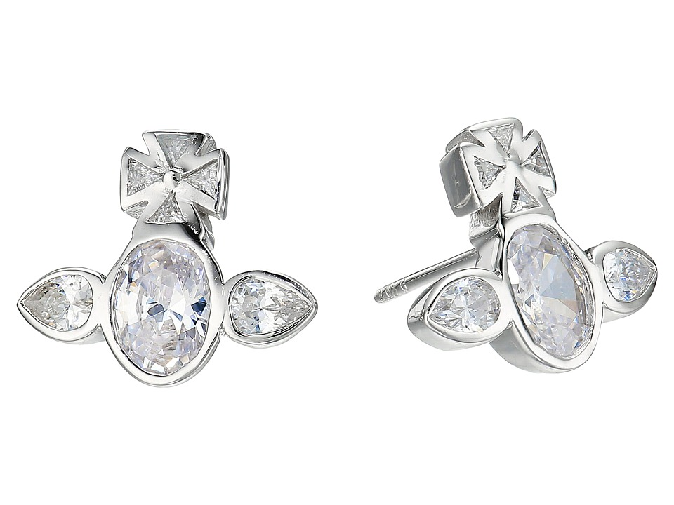 Vivienne Westwood - Carmella Earrings (White Cubic Zirconia) Earring