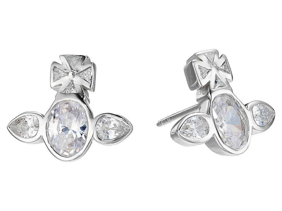 Vivienne Westwood - Carmella Earrings (White Cubic Zirconia) Earring