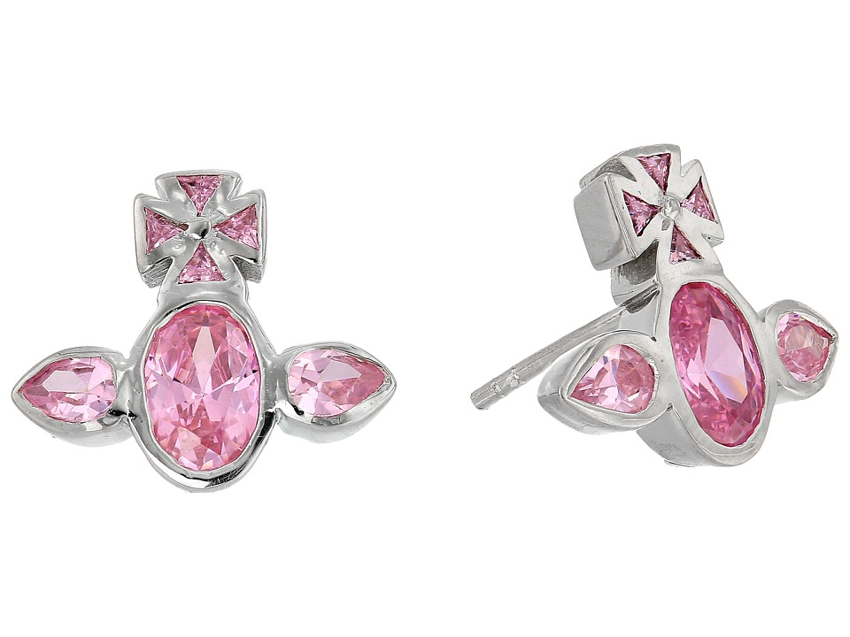 Vivienne Westwood - Carmella Earrings (Pink Cubic Zirconia) Earring