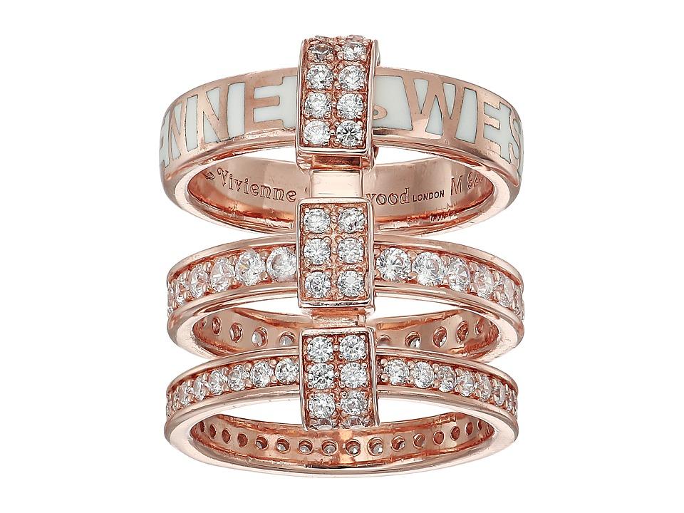 Vivienne Westwood - Jules Ring (White Enamel/White Cubic Zirconia) Ring
