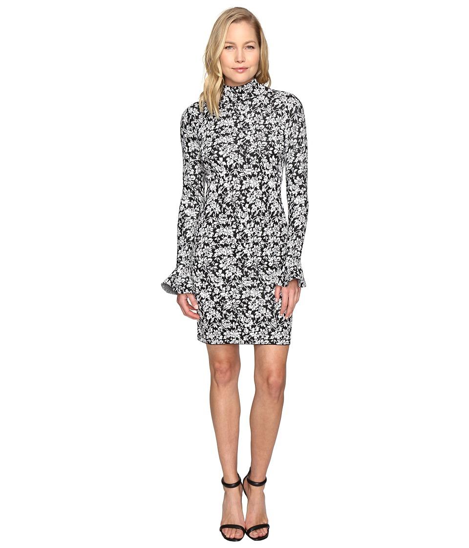 MICHAEL Michael Kors Floral Bell Sleeve Long Sleeve Dress (Ecru) Women