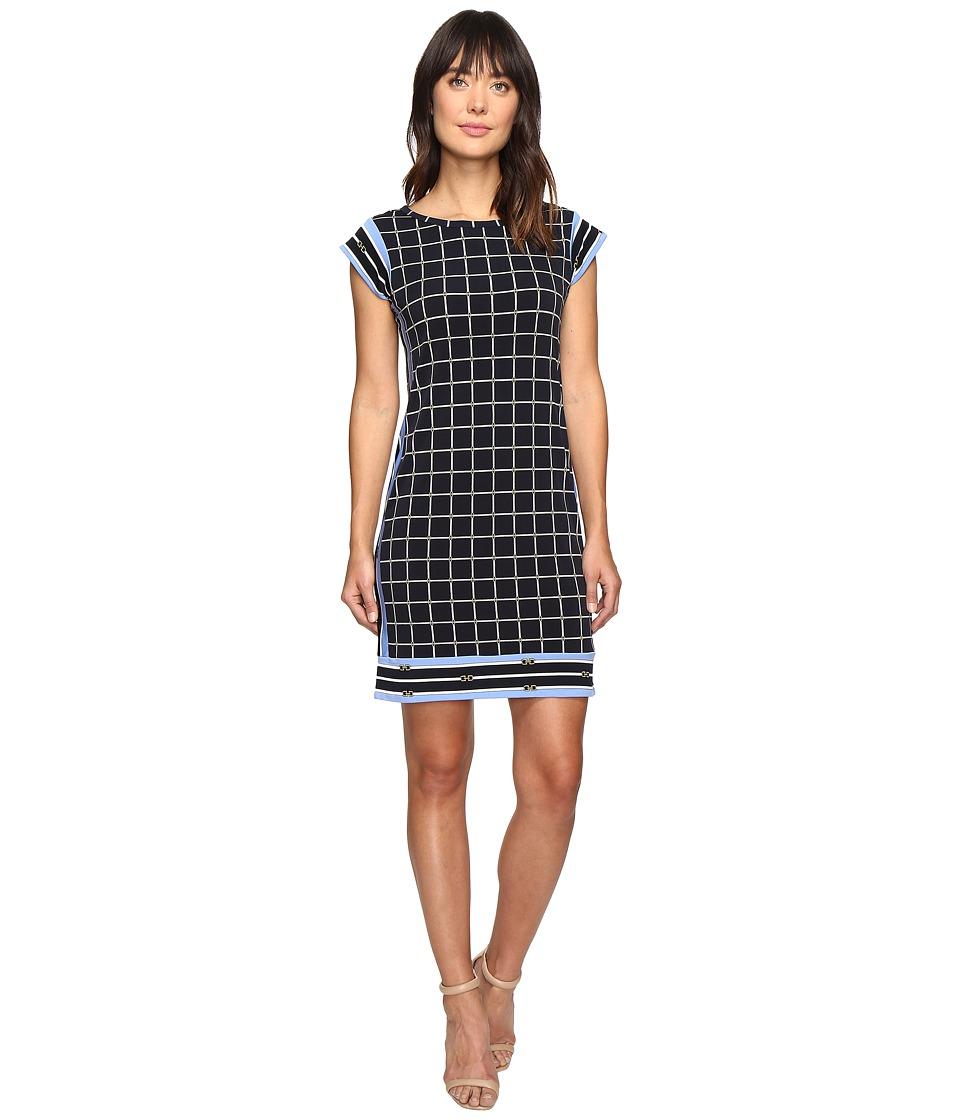 MICHAEL Michael Kors - Dressage Border Dress (New Navy) Women's Dress