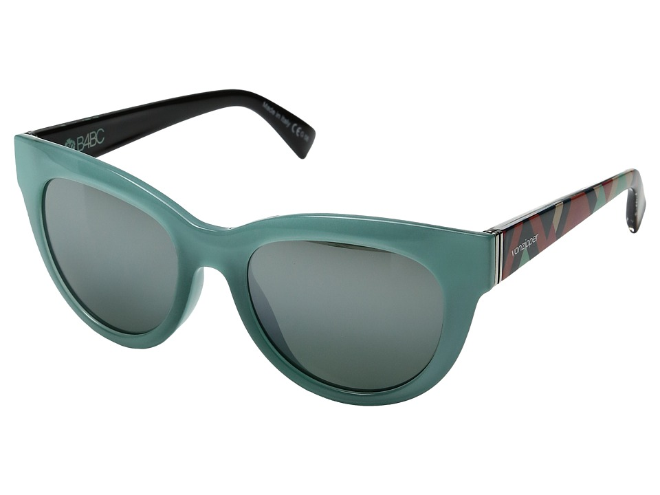 VonZipper - Queenie (Mint Crystal/Silver Chrome Gradient) Sport Sunglasses