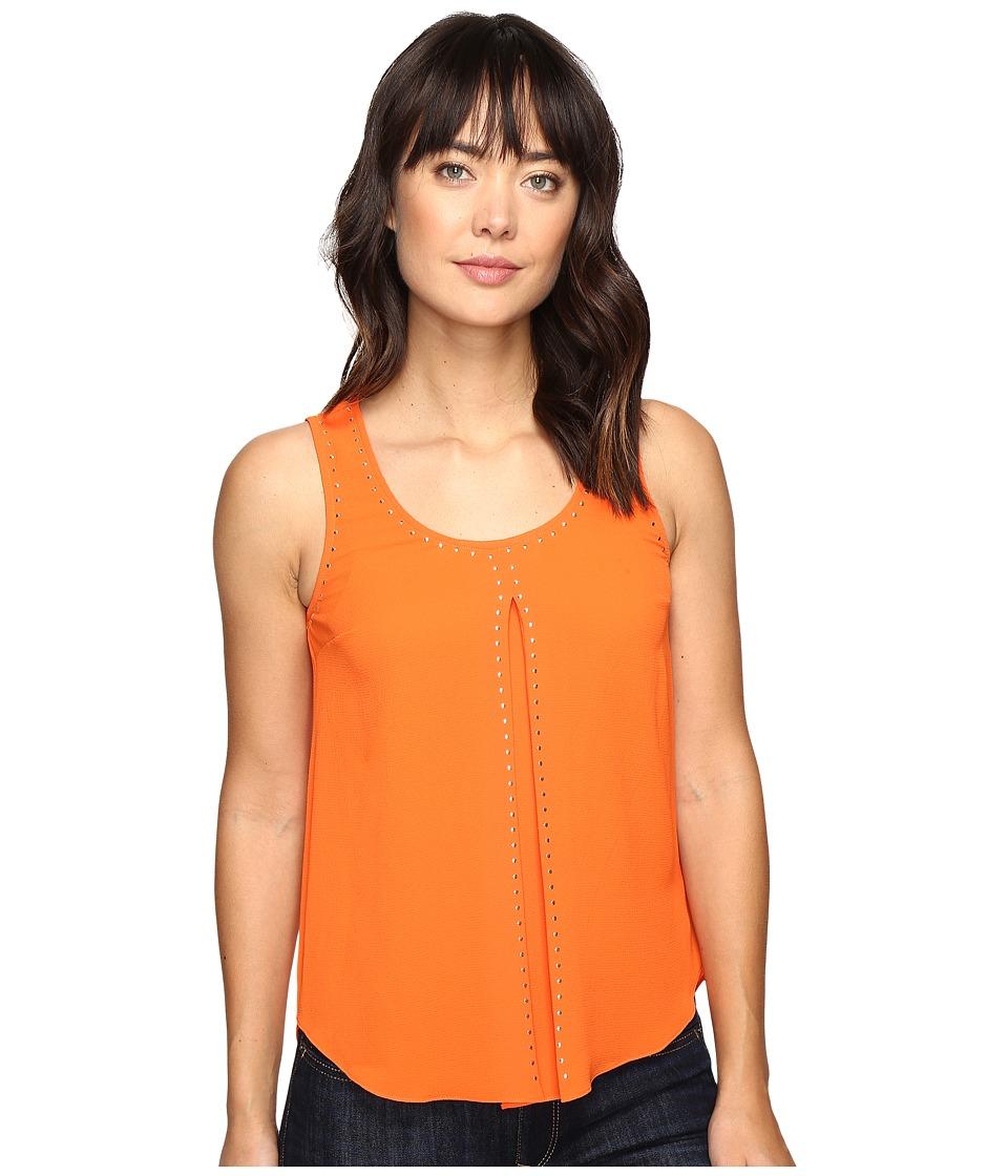 MICHAEL Michael Kors - Heat Transfer Stud Detail Tank Top (Poppy) Women's Sleeveless
