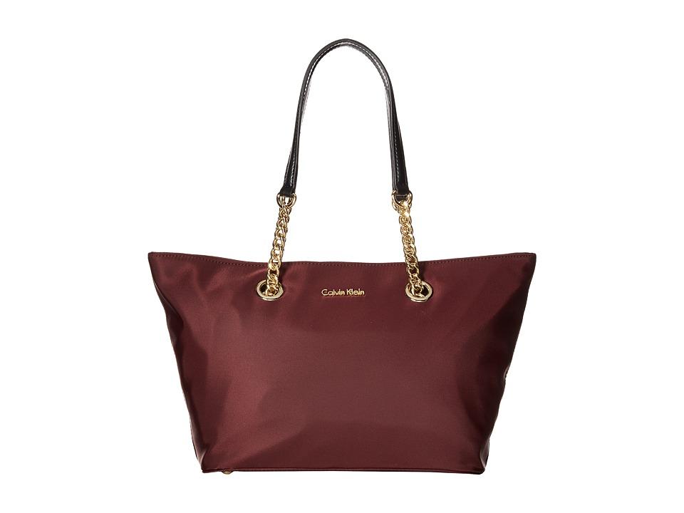 Calvin Klein - Nylon Tote (Rum Raisin) Tote Handbags