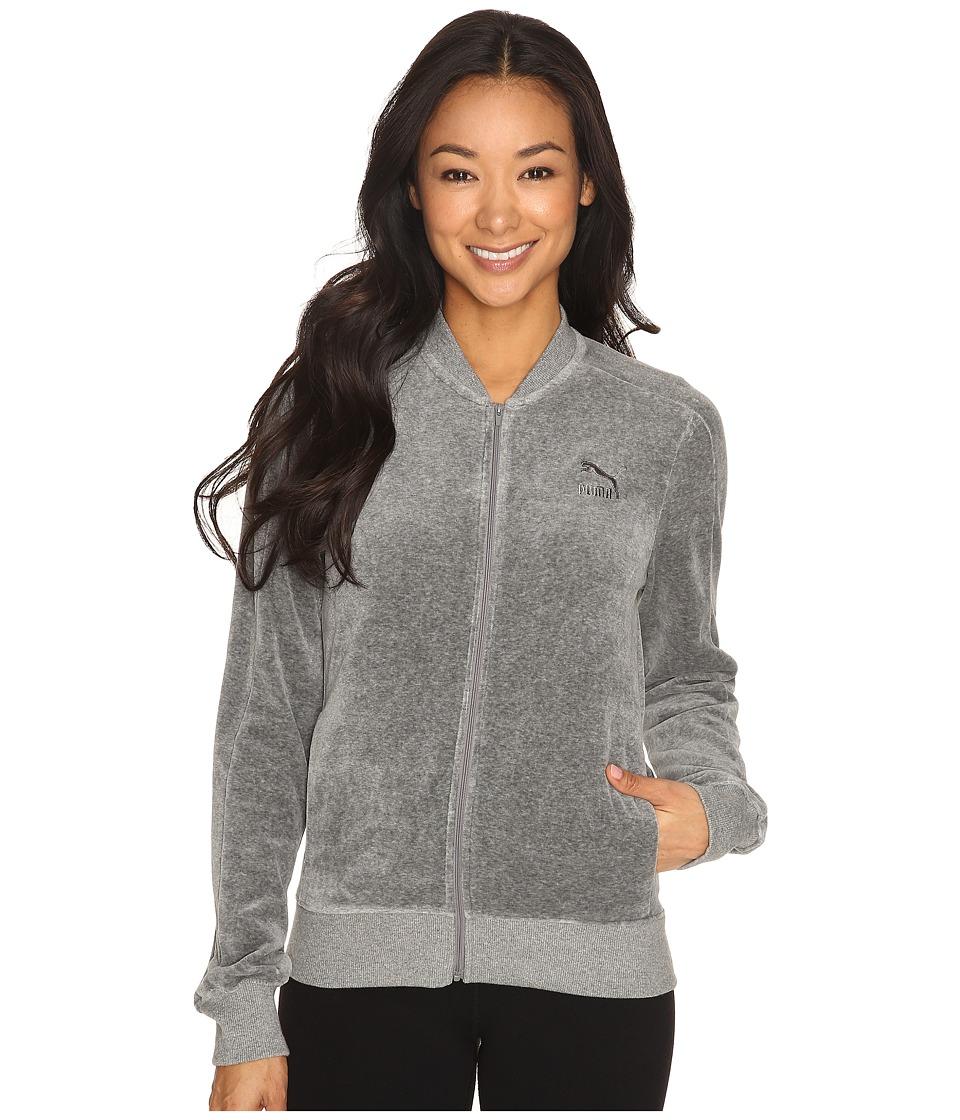PUMA - Velour T7 Jacket (Medium Gray Heather) Women's Coat