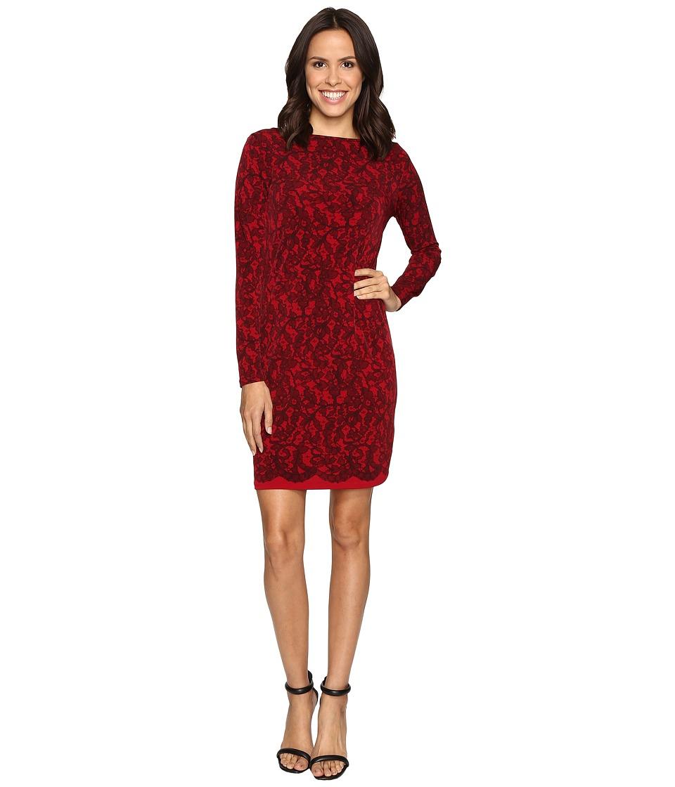 MICHAEL Michael Kors - Umbria Lace Border Dress (Cinnabar) Women's Dress