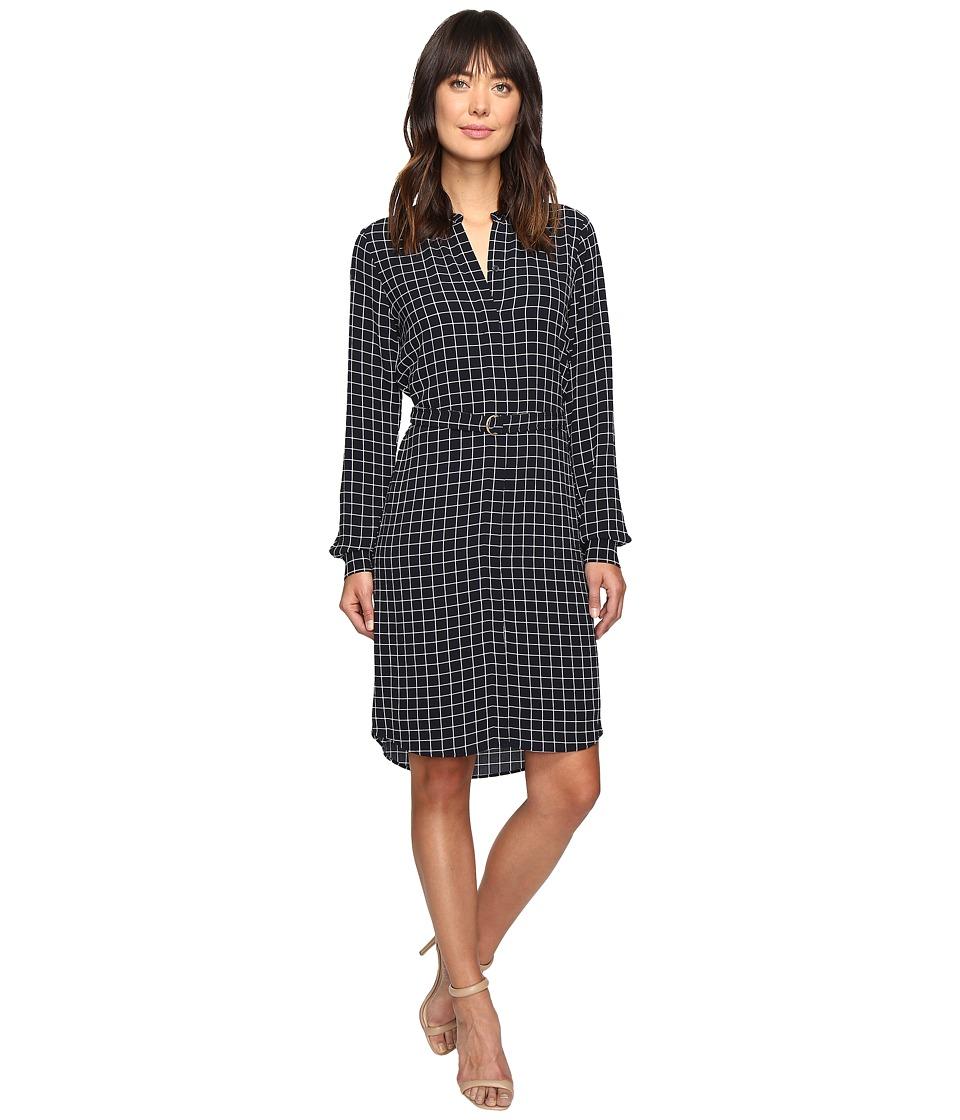 MICHAEL Michael Kors - Trail Windowpane Dress (New Navy) Women's Dress