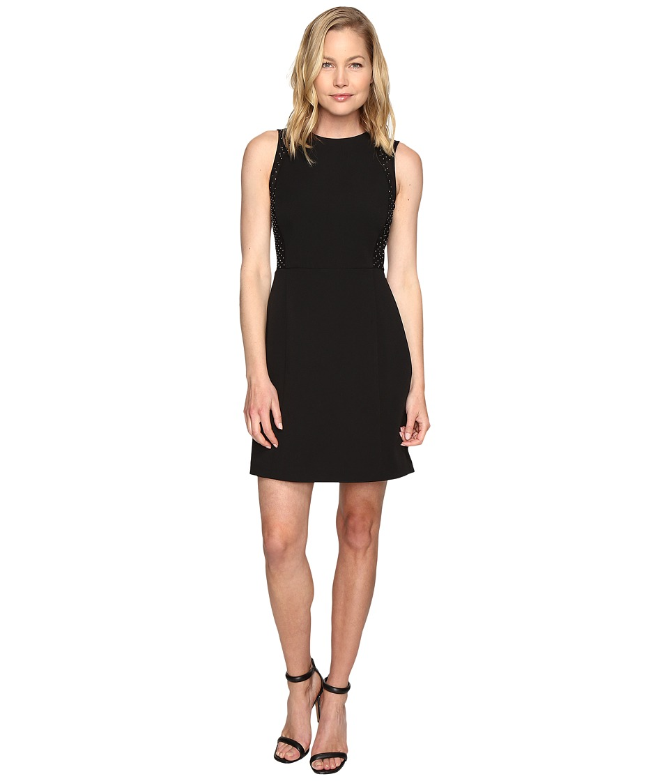 MICHAEL Michael Kors - Tulle Insert Dress (Black) Women's Dress
