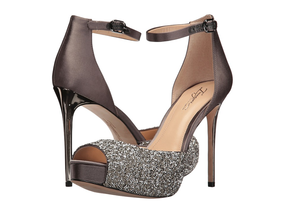 Imagine Vince Camuto - Karleigh (Storm Grey/Platimum Crystal Matallic/Satin) High Heels