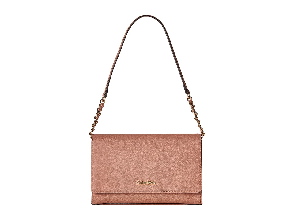 Calvin Klein - Key Items Saffiano Demi (Deep Blush) Handbags