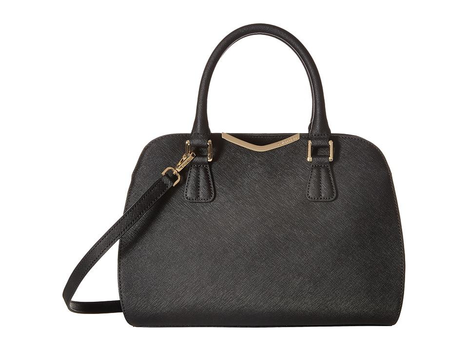 Calvin Klein - Saffiano Satchel (Black/Gold) Tote Handbags