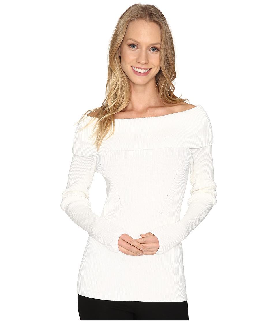 MICHAEL Michael Kors - Open Cowl Rib Sweater (Ecru) Women's Sweater