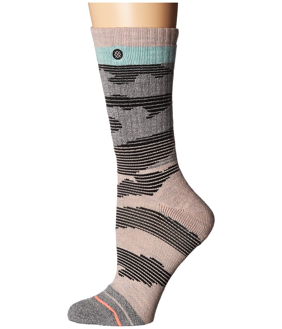 Stance - Altimeter Outdoor Crew (Pink) Women's Crew Cut Socks Shoes