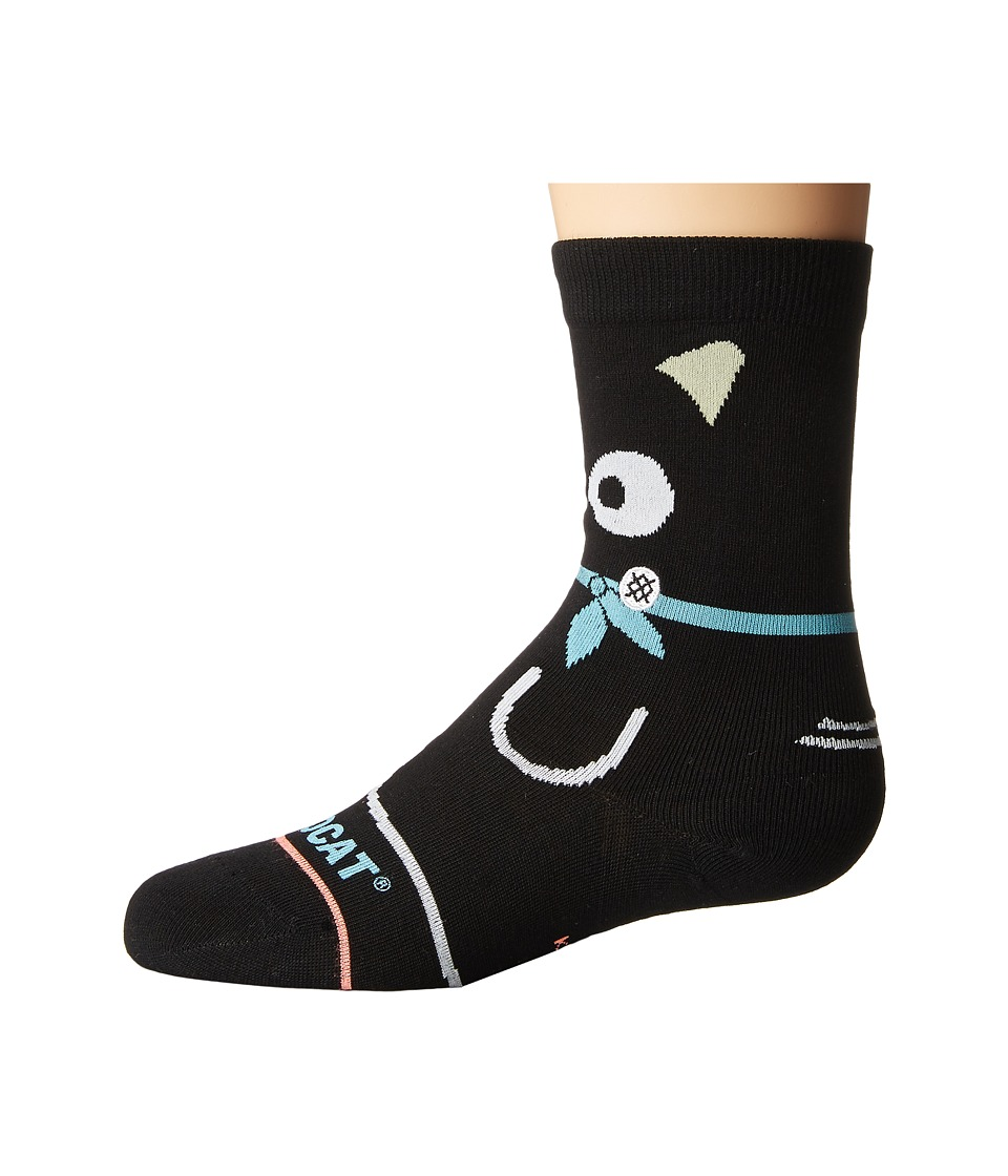 Stance - Chococat (Toddler/Little Kid/Big Kid) (Black) Women's Crew Cut Socks Shoes