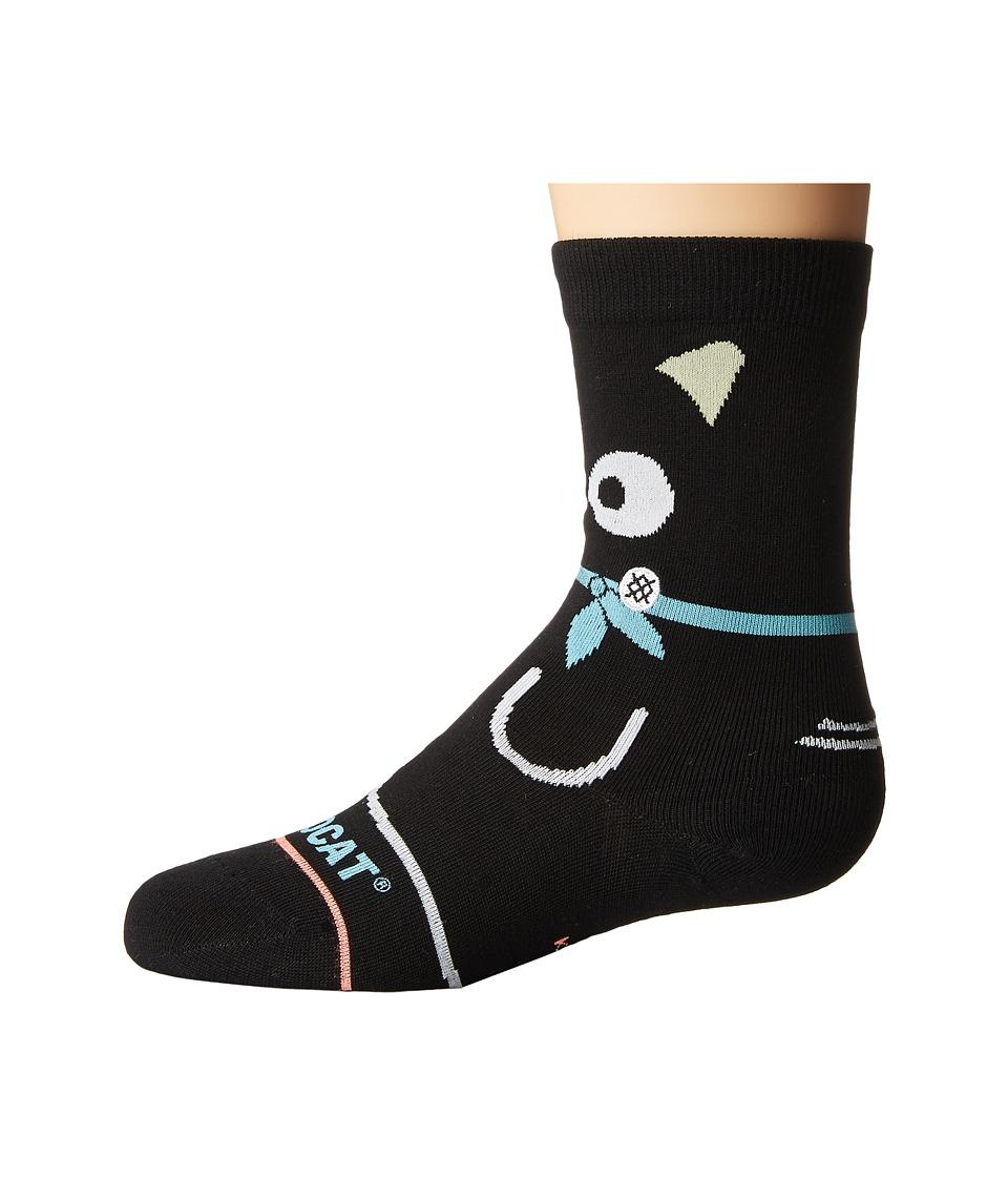Stance - Chococat (Toddler/Little Kid/Big Kid) (Black) Women's Crew Cut Socks Shoes