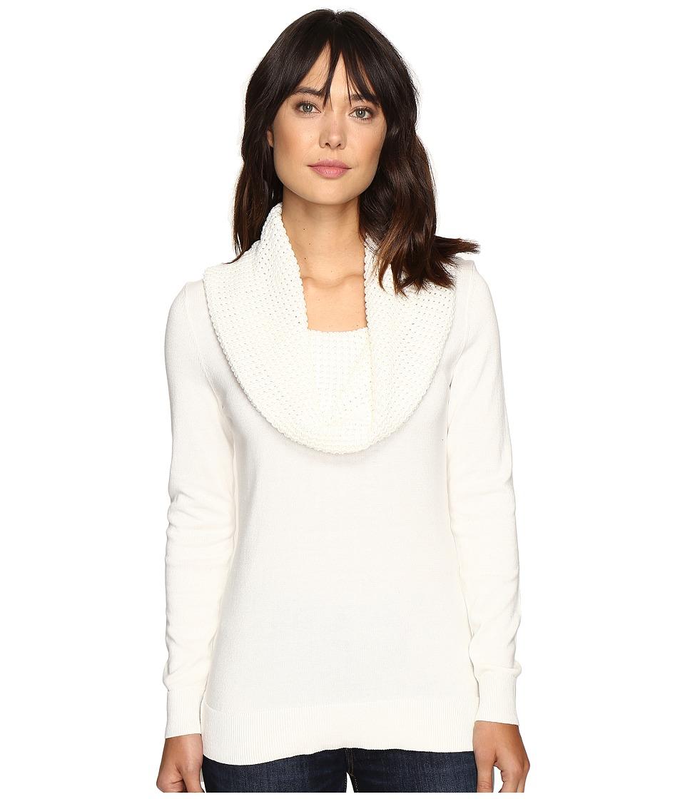 MICHAEL Michael Kors - Waffle Cowl Neck Sweater (Ecru) Women's Sweater