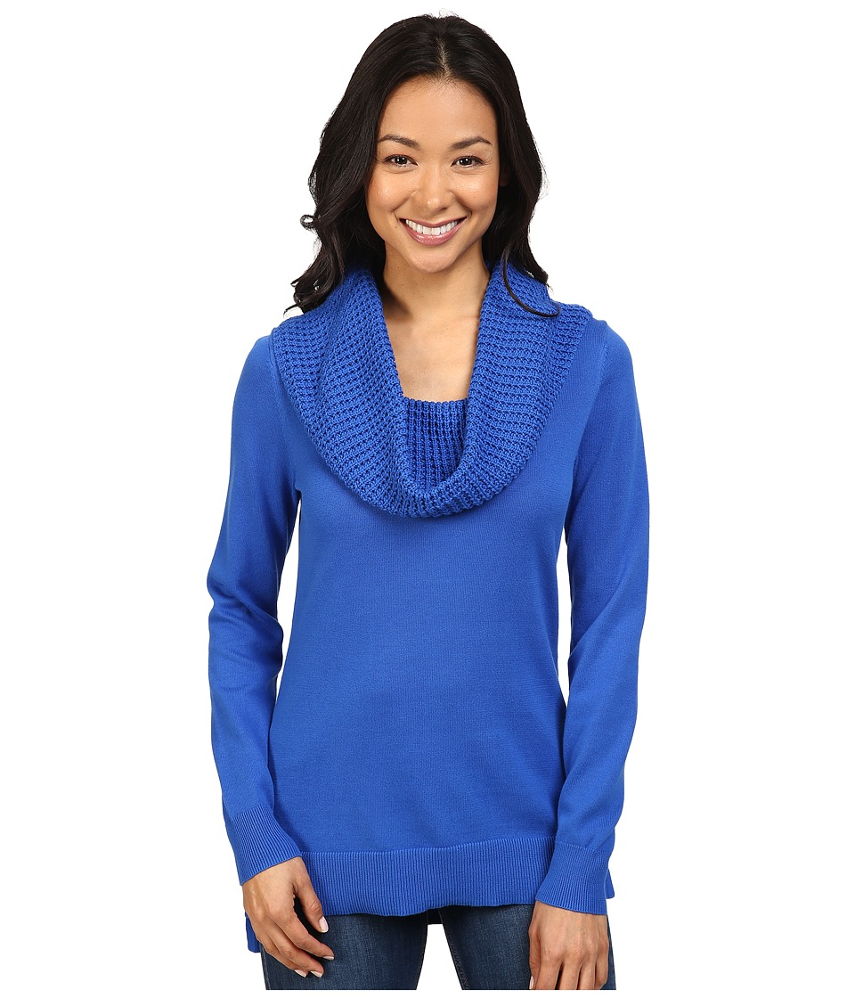 MICHAEL Michael Kors - Waffle Cowl Neck Sweater (Amalfi Blue) Women's Sweater