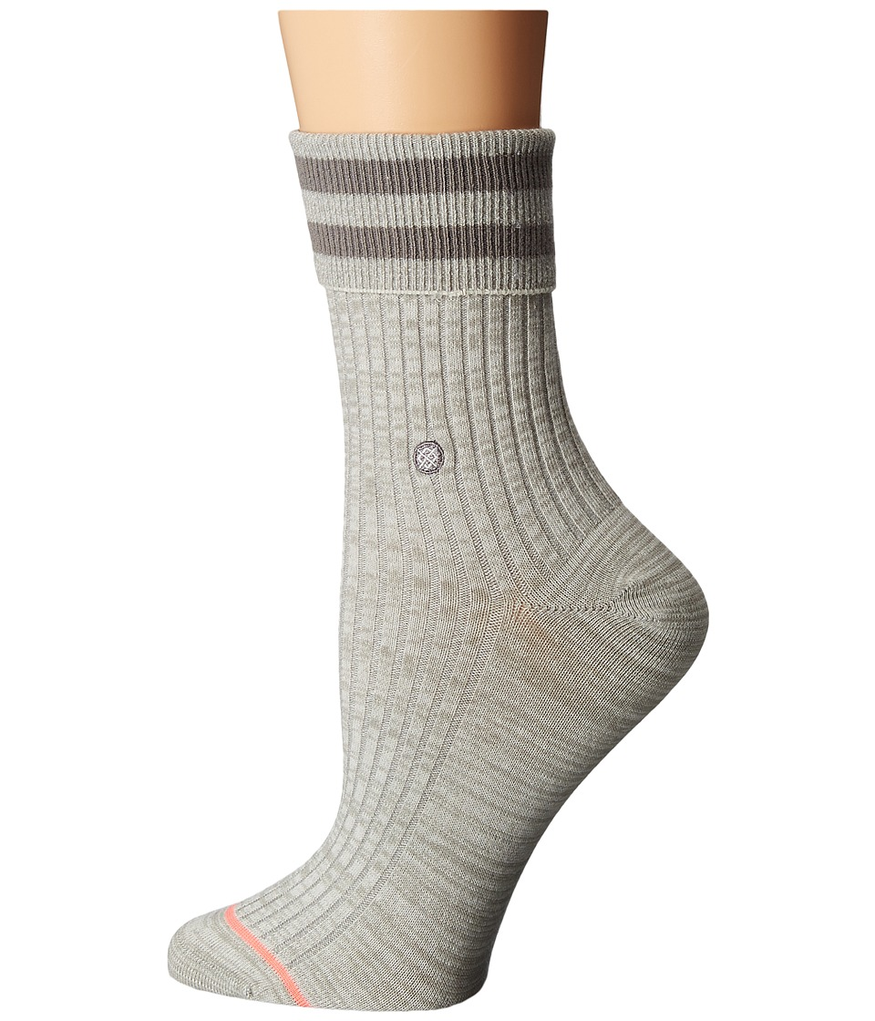 Stance - Uncommon Anklet (Grey) Women's Crew Cut Socks Shoes