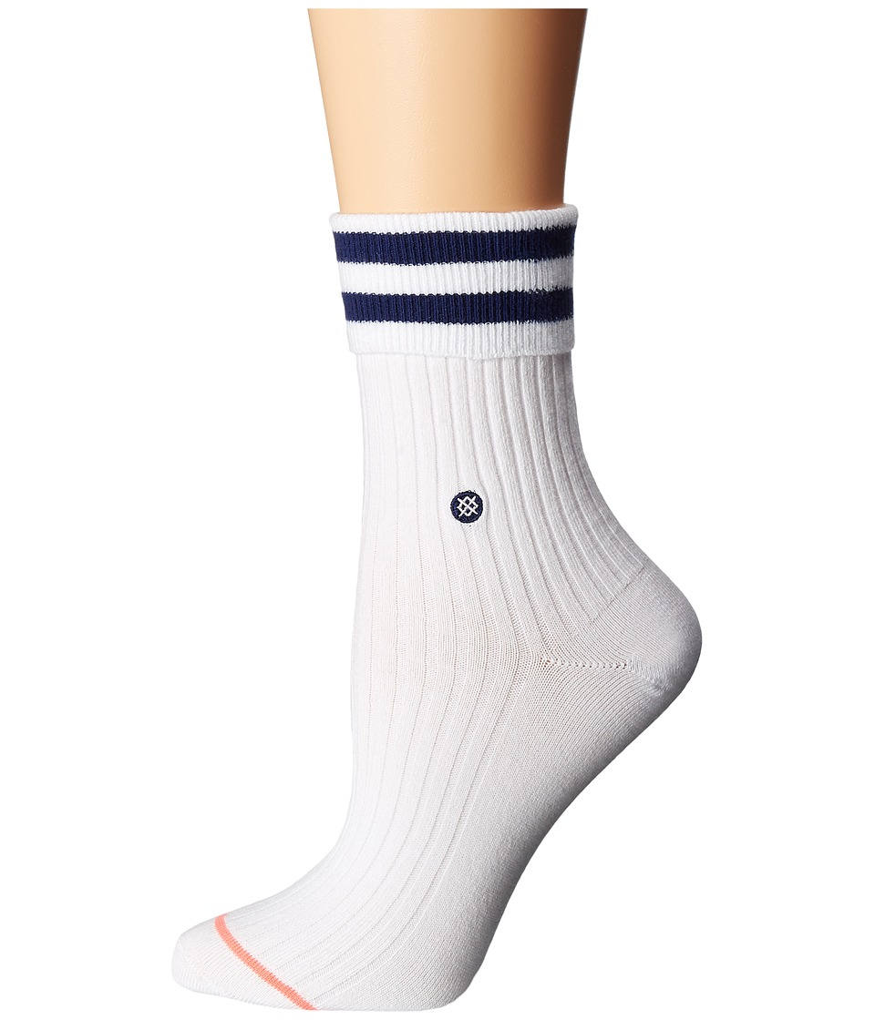 Stance - Uncommon Anklet (White) Women's Crew Cut Socks Shoes