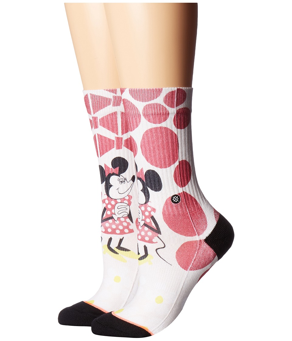 Stance - Yusuke Minnie (Off-White) Women's Crew Cut Socks Shoes