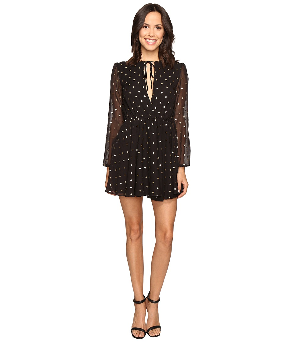 Lovers + Friends Hayley Dress (Gold Dot) Women