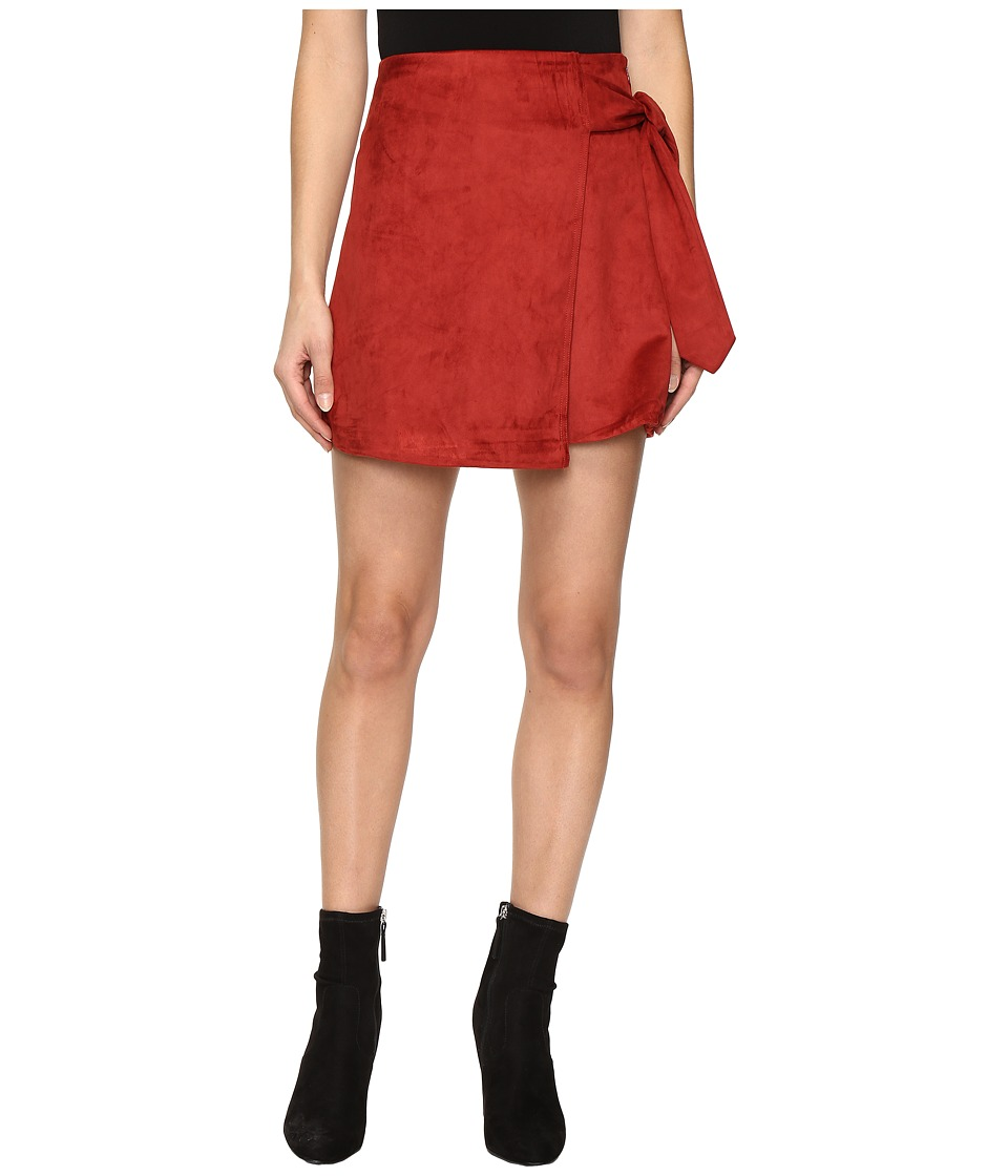 Lovers + Friends - Lea Skirt (Burgundy) Women's Skirt