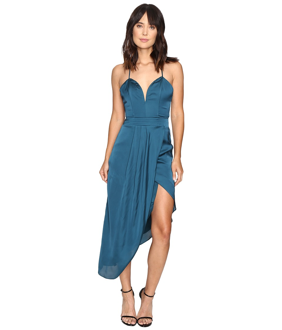 Lovers + Friends - Brynn Midi Dress (Jade) Women's Jumpsuit & Rompers One Piece