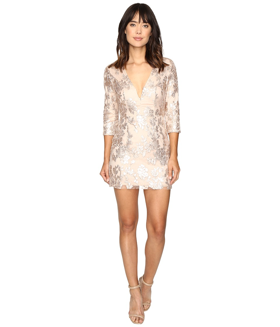 Lovers + Friends - Fading Winter Dress (Gold) Women's Dress