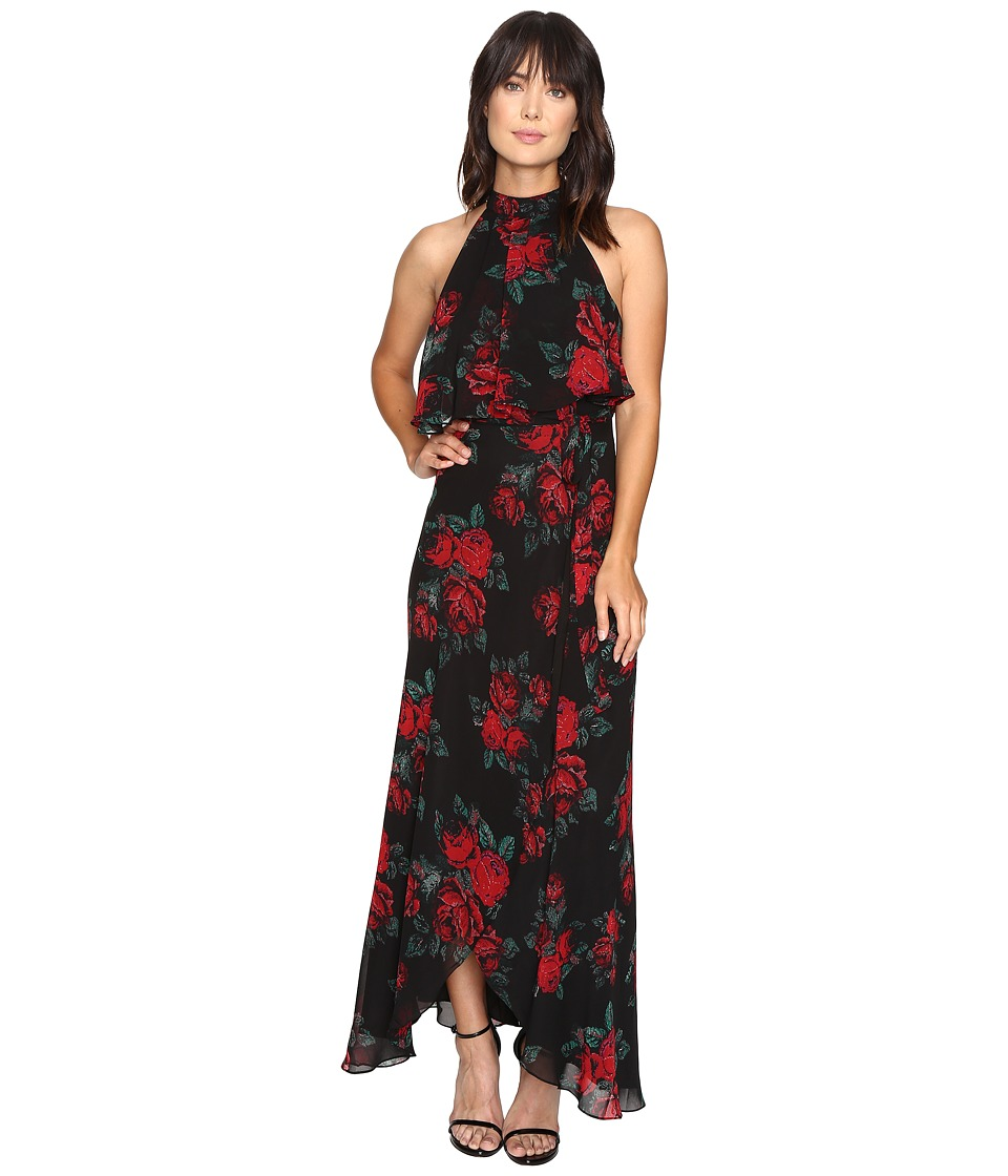 Lovers + Friends - Golden Ray Maxi Dress (Rose Print) Women's Dress
