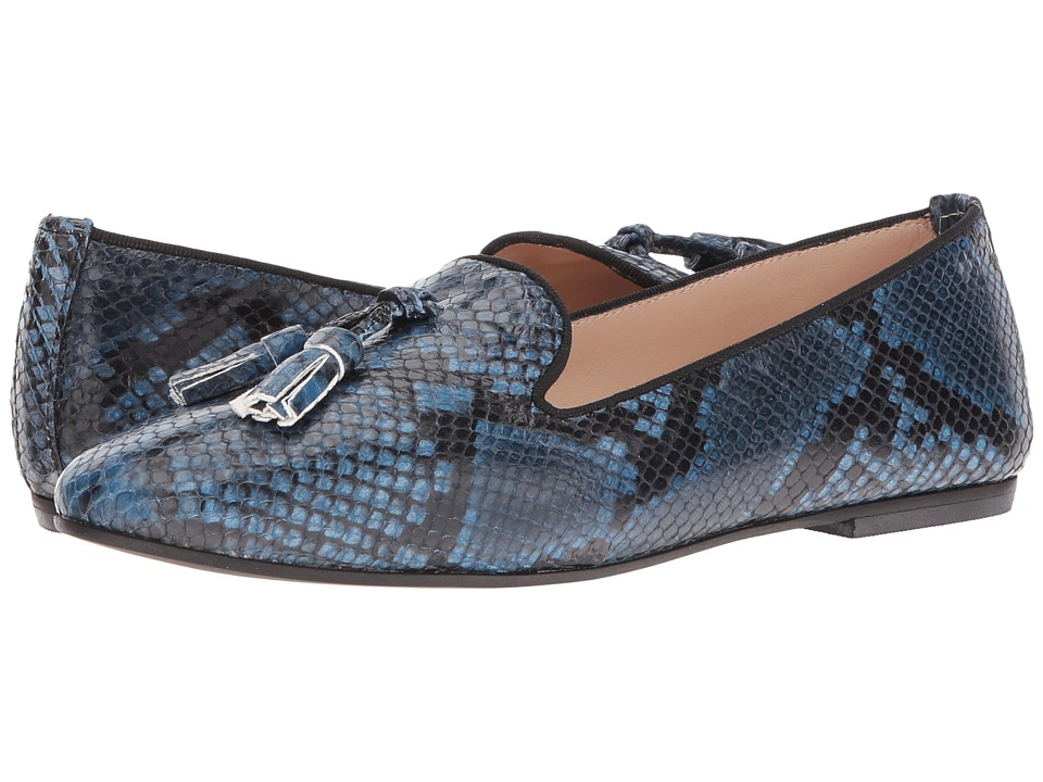 Massimo Matteo Snake Tassel Slip-On (Blue) Women
